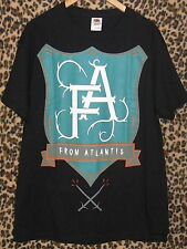 NWOT From Atlantis shield black T-shirt Large punk rock band