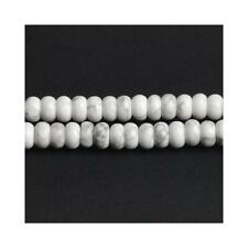 Howlite Plain Rondelle Beads 5x8mm White 80+ Pcs Gemstones DIY Jewellery Making