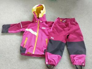 Helly Hansen Waterproof Jacket And Trousers Kids Age 2 Pink