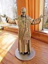Nib Pope John Paul Ii Pewter Figurine Statue Danbury Mint David La Rocca