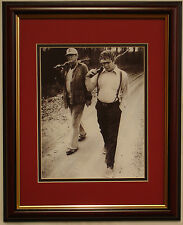 ALABAMA AUBURN football Bear Bryant and Pat Dye hunting framed photo
