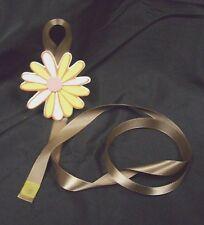 girls flower brown yellow pink barrette bow hair accessories storage handmade