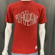 Portland University Vintage 80's Champion Red Graphic T-Shirt Adult Size Medium