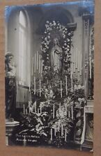 Postcard Adelphi House Convent Salford Our Ladys Altar  Real Photo posted 1908