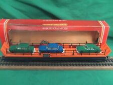HORNBY R126 CAR TRANSPORTER WITH THREE CARS COMPLETE IN BOX V.G.C.