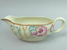 CLARICE CLIFF ART DECO CHIPPENDALE TREES NEWPORT POTTERY SAUCE BOAT 1930's