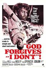GOD FORGIVES - I DON'T Movie POSTER 27x40 B Terence Hill Frank Wolff Bud Spencer