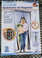 1x Magnet Moskitonetz Magic Klick Insekten Fliegengitter Mücken 90x210 Posten