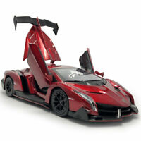 Lamborghini Veneno Supercar 1/24 Model Car Metal Diecast Toy Collection Gift Red