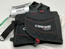 New Cressi Start Jacket BCD Scuba Diving For Beginners Black w/Red Accent Size L