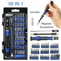 58 in 1 Phone Computer Repair Tool Kit Precision Small Screwdriver Set 54 Bit UK