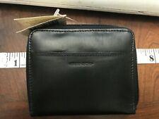 NWT Geoffrey Allen Business Accessories Double Zip Wallet Genuine leather men's