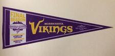 Chris Carter Autographed Minnesota Vikings Vintage NFL Pennant Inscribed HOF 13