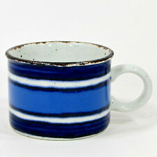Midwinter Stonehenge MOON 8oz Cup Mug Oatmeal Navy Blue Iron Oxide England