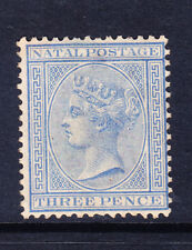 SOUTH AFRICA NATAL 1884 SG100 3d blue wmk Crown CA m/m lightly toned gum cat£160
