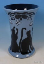 "MOORCROFT Lucky Black Cats 158/6 Numbered Ed 6"" Vase RRP £245 Trial Master"