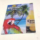 Corona Extra Miles Away From Ordinary Parrot Beach Scene Metal Sign 2007 12 x 18