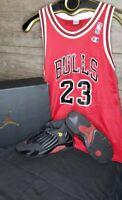 Micheal Jordan Bulls Jersey YM  #23 Nike Air Jordan XIV 14  Retro Size 3y Bundle