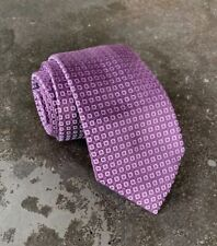 "$240 NWOT Brioni  100% Silk Neck Tie Purple & Silver Geometric L 59"", W 3.25"""
