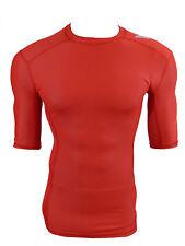 ADIDAS TECHFIT Climachill funzione shirt Compression Corsa Shirt Rosso Taglia L