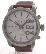 Diesel DZ4210 Advanced Grey Dial Brown Leather Strap Chronograph Men's Watch