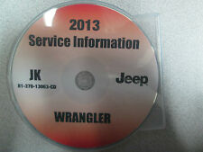 2013 JEEP WRANGLER Service INFORMATION Shop Repair Manual CD DVD OEM BRAND NEW