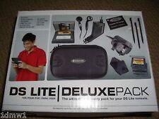 Nintendo DS Lite Pack d'Accessoires Console Case Secteur Voiture Chargeurs Noir NEUF