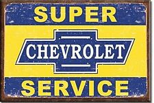 Chevrolet Super Service steel fridge magnet (de)