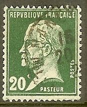 """FRANCE TIMBRE STAMP N°172 """"TYPE PASTEUR, 20 C VERT"""" OBLITERE TB"""