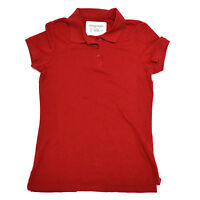 Aeropostale Womens Uniform Polo Shirt Stretch Juniors Red Style 5244 xs s V232