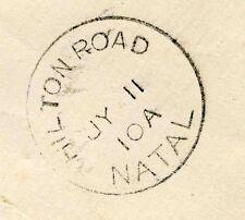 NATAL, SOUTH AFRICA, HILTON ROAD SC, VERY RARE POSTMARK