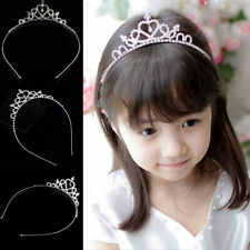 Rhinestone Tiara Hair Band Kid Girl Bridal Princess Prom Crown Headband