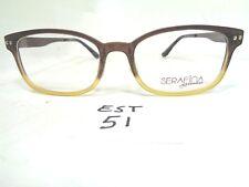 New SERAFINA EYEWEAR Eyeglass Frame Student Brown Fade  (EST-51)