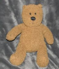 "Baby Gap Teddy Bear Brannan Brown Plush 13"" Stuffed Toy Bean Bag Curly Fur"