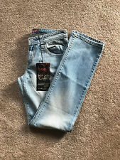 New Levis 518 Women Slim Fit Straight Leg Blue Denim Low Rise Jeans size 3M