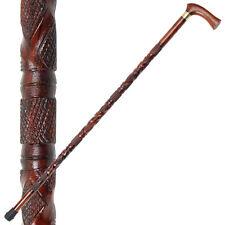 Art Deco Sheesham Wooden Walking Cane Accessory Staff