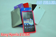 Sony Xperia Z L36h S Curve Slim Soft Silicone Rubber Gel Back Cover Case