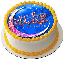 EID MUBARAK MUBARIK CELEBRATION 7.5 PREMIUM Edible RICE Cake Topper D4