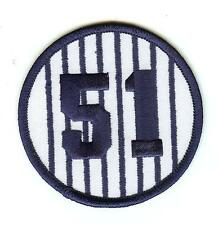 """Bernie Williams Retired Jersey Number 51 Patch 3"""" Round New York Yankees"""