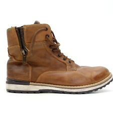 Buckle x GBX Mens Drift Dark Brown Tan Leather Lace Mid Boots US 12 EU 45