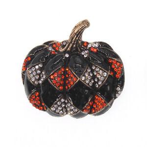Halloween Day Brooch Enamal Crystal Rhinestone Pumpkin Shape Brooch Pin