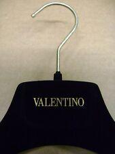 Valentino Black Velvet Felt 15 Suit Hangers Set 6