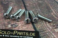 Linsenkopfschraube mit Innensechskant M6x12 CHROM verchromt M6 Schraube Linsen