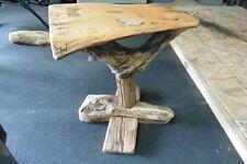 Vtg Electrified Chesapeake bay Driftwood side table coffee lamp granite insert