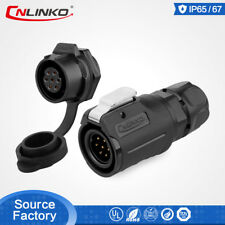 CNLINKO Waterproof M16 Power Signal Circular Cable 7 Pin Plug Electric Connector