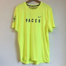 Nike + Run Club Dri-Fit Volt Pacer Issue Miler Running Tee T Shirt Men's Large L