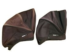Bugaboo Donkey Canvas extendable pair of black hoods faded plz read