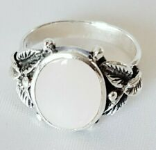 Ring ~ Pink Mother of Pearl ~ Hallmarked 925 Sterling Silver