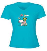 Peanuts Snoopy Woodstock Easter Eggs Spring Cute Juniors Teen Tee T-Shirt Gift