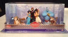 Disney Store Princess Jasmine & Aladdin Figurine Playset Genie Abu Rajah Jafar